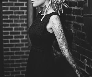 tattoo, girl, and dreads image