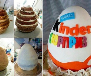 cake, kinder, and surprise image