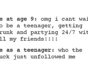 teenager, unfollow, and true image