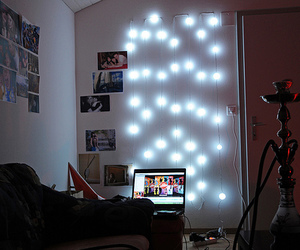 light, bedroom, and photography image