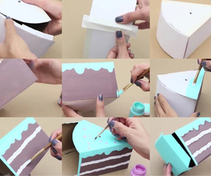 diy, cake, and box image