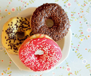 chocolate, donuts, and cute food image