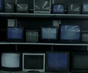 grunge, tv, and dark image