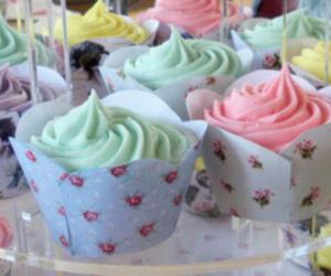 colorful, kawaii, and cupcake image