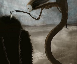 art, dark, and monster image