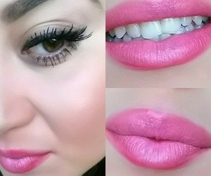 bouche, make-up, and mascara image