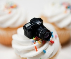 camera, cupcake, and tiny image