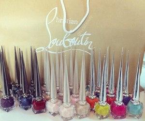 nails, louboutin, and luxury image