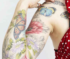 tattoo, butterfly, and ink image