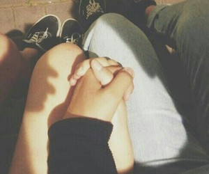 love, couple, and hands image