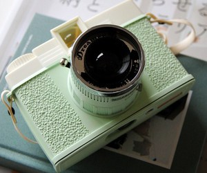 camera, mint, and vintage image