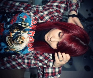awesome, iron maiden, and red hair image
