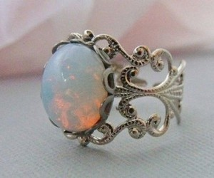 ring, jewelry, and opal image