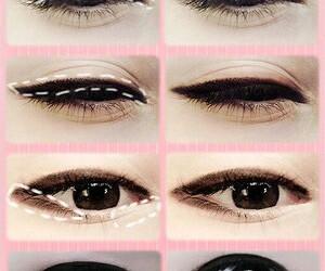ulzzang, makeup, and eyes image