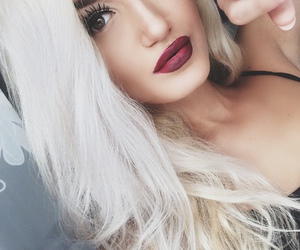 blondy, girl, and hair image