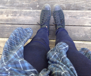 black, blue, and converse image
