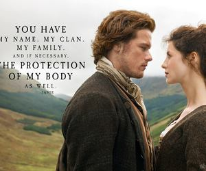 outlander, Claire, and love image