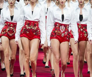 fashion, D&G, and runway image