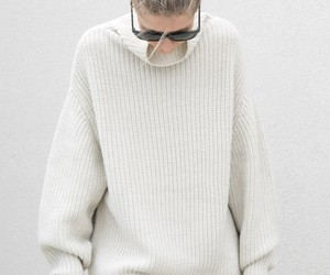 autumn, knit, and sunglasses image