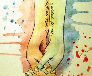 love, art, and hand image