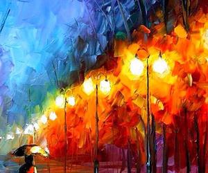 street, art, and night image