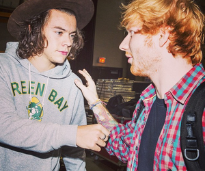 Harry Styles, ed sheeran, and one direction image