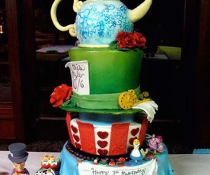 alice, food, and cake image