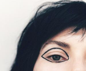 girl, eye, and makeup image