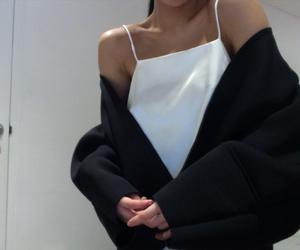 fashion, white, and black image