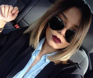 hair, style, and sunglasses image