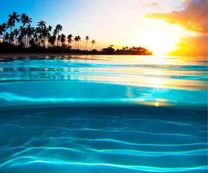 beautiful, sun, and blue image