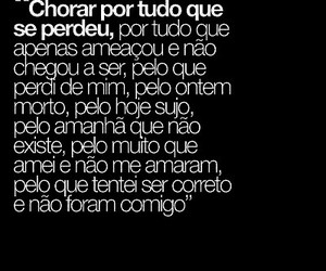 amor, chorar, and hoje image