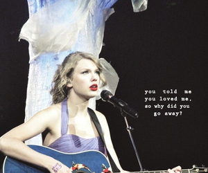 Taylor Swift, guitar, and speak now world tour image