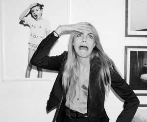model, cara delevingne, and funny image