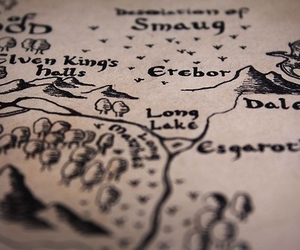 map, hobbit, and lord of the rings image