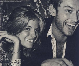 jude law, couple, and sienna miller image