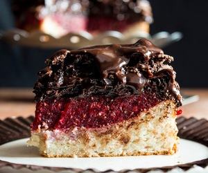 cake, raspberry, and chef image