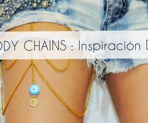diy, fashion, and body chains image