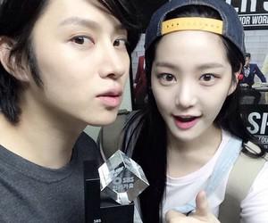 heechul, lee yoo bi, and super junior image
