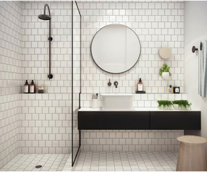 bathroom, design, and white image