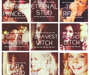 elena gilbert, tvd, and katherine pierce image