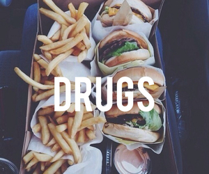 food, drugs, and hamburger image