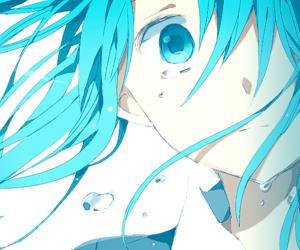 anime, blue, and tears image
