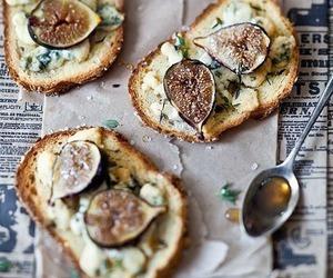 food, fig, and toast image