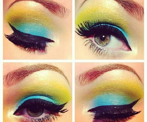 beauty, blue eyes, and cosmetics image