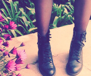 black, boots, and stradivarius image