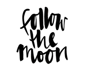 quote, moon, and black and white image