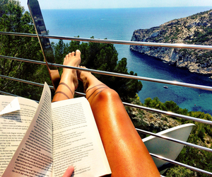 book, legs, and reading image