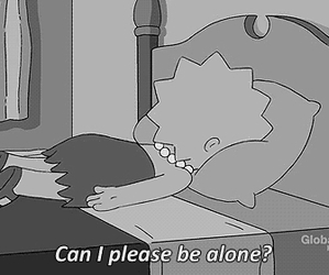 alone, lisa, and sad image