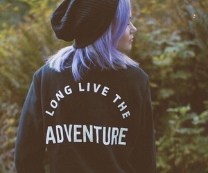 girl, hair, and adventure image